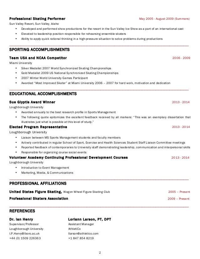 Colette Sisofo Resume Usa 2014