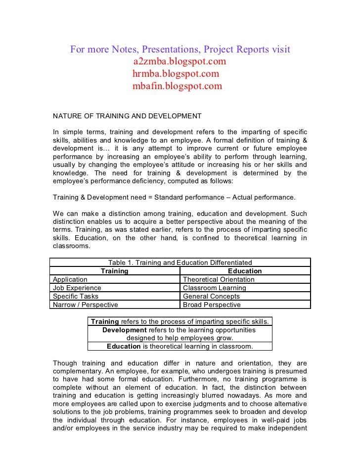 21304140 hrm-training-development-project-report