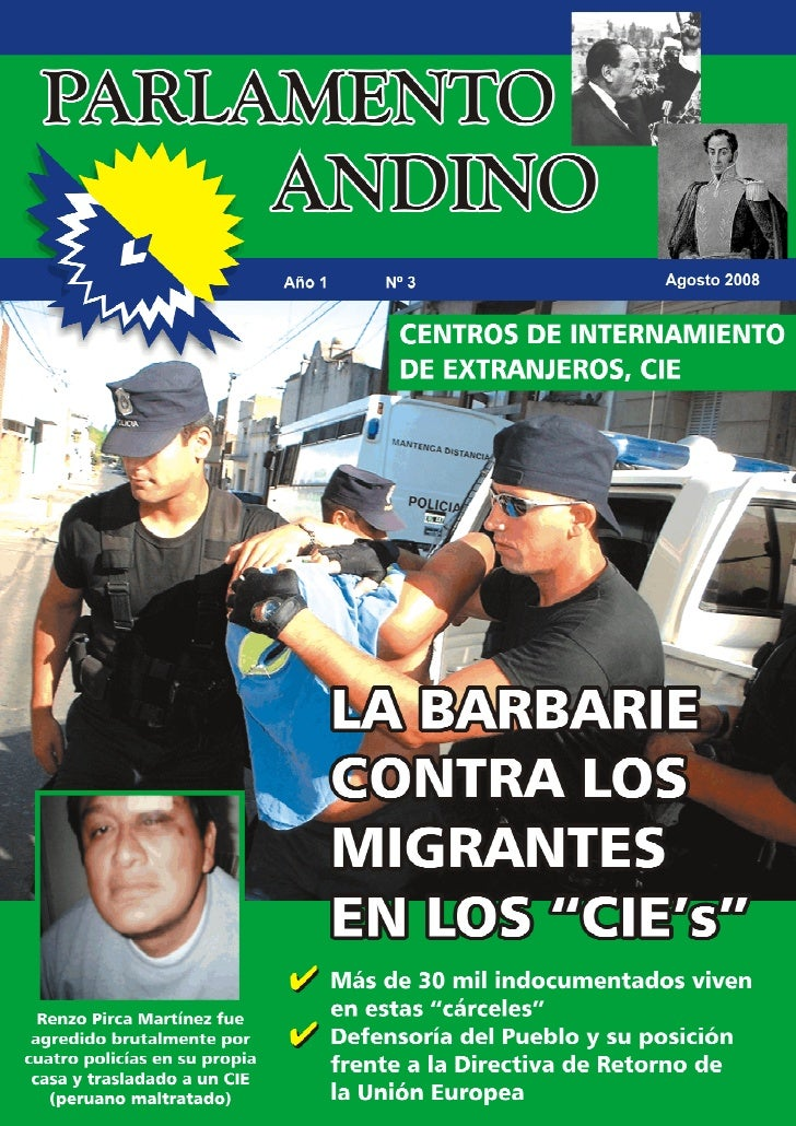 1     PARLAMENTOANDINO   Ingresa: www.defiendemigrante.com