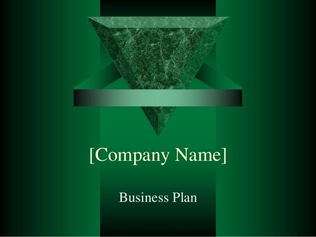 21361261 business-plan-presentation-template-power point