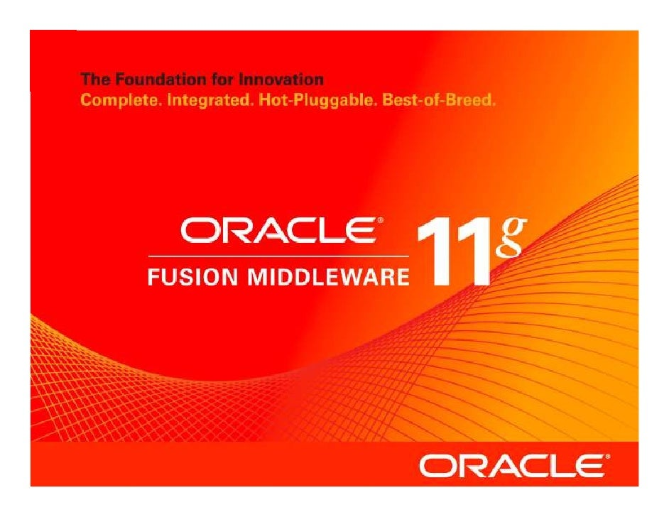 """""""Oracle Insight for Investors"""" Educational Webcast - Oracle Fusion Middleware"""
