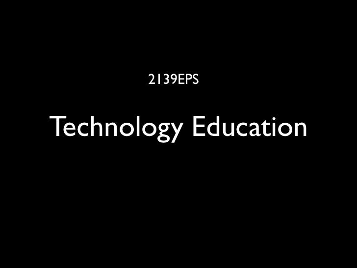 2139 Eps Technology Education 08 S2 L1