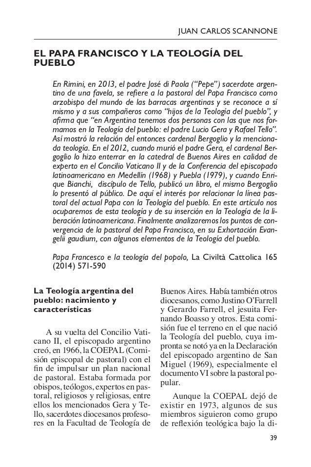 """39 Juan CArlos Scannone El Papa Francisco y la teología del pueblo En Rimini, en 2013, el padre José di Paola (""""Pepe"""") s..."""