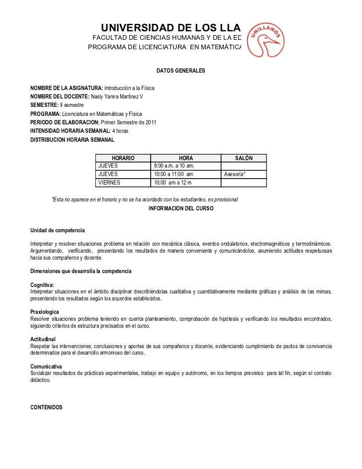 UNIVERSIDAD DE LOS LLANOS                           FACULTAD DE CIENCIAS HUMANAS Y DE LA EDUCACIÓN                        ...