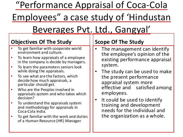performance appraisal case
