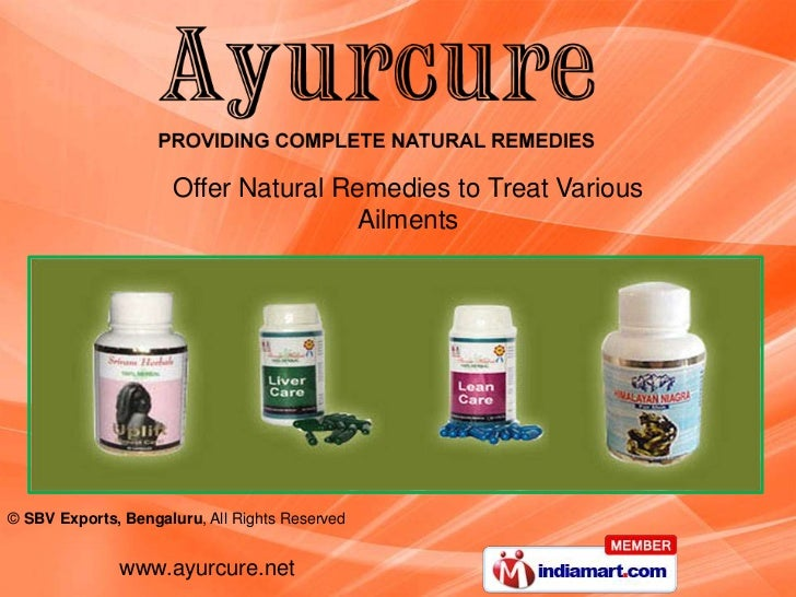 Offer Natural Remedies to Treat Various                                    Ailments© SBV Exports, Bengaluru, All Rights Re...