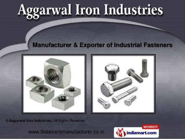 Manufacturer & Exporter of Industrial Fasteners