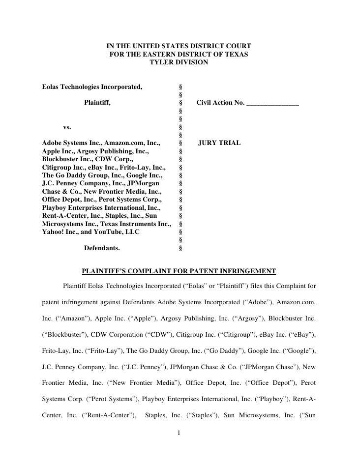Eolas patent case file