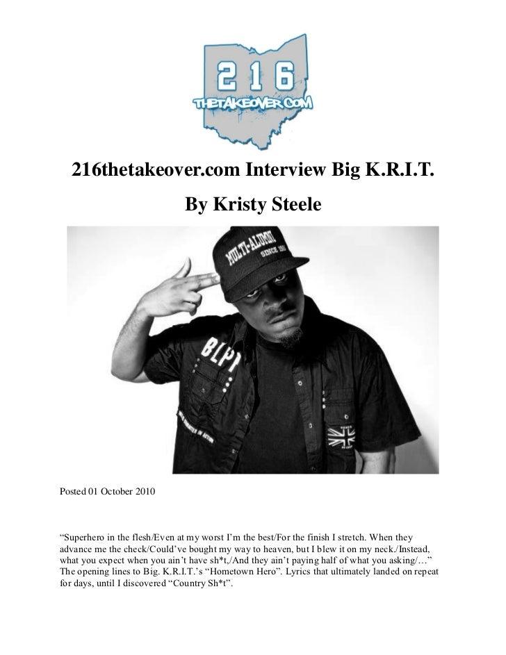 216thetakeover.com Interviews Big K.R.I.T.