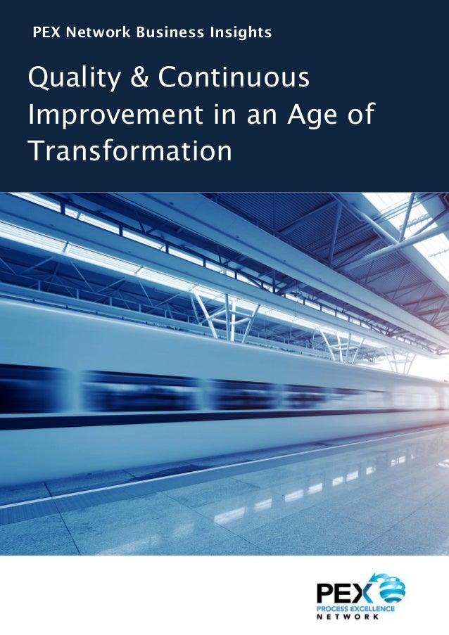 Quality and continuous improvement in der heutigen Ära des Wandels