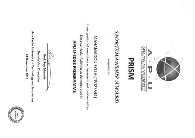 student activities certificates