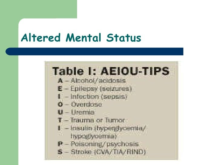 21)Altered Mental Status