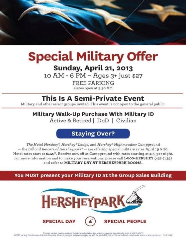 Military Day at Hershey Park 21 April