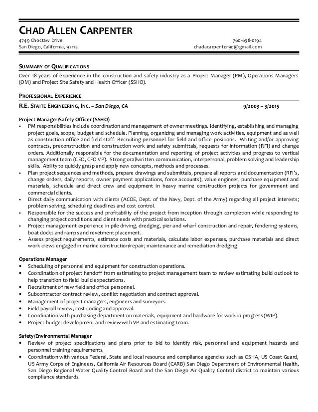 Resume Carpenter. Carpenter Resume Template 8 Free Word Excel Pdf
