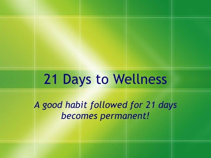 21 days to wellness1