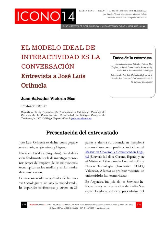 REVISTA ICONO 14, 2010, Nº 15, pp. 320-325. ISSN 1697-8293. Madrid (España)                                               ...