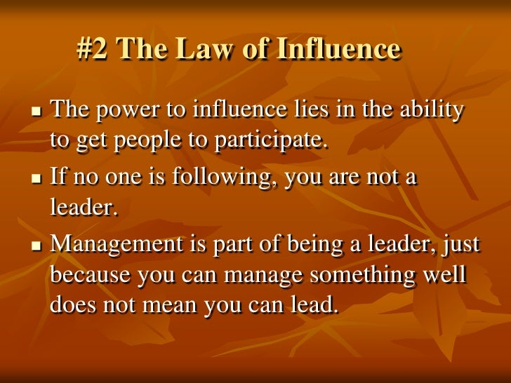 the 21 irrefutable laws of john Buy the paperback book the 21 irrefutable laws of leadership by john c maxwell at indigoca, canada's largest bookstore + get free.