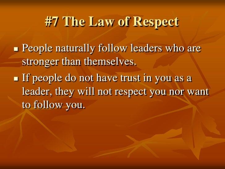 Essay of respect