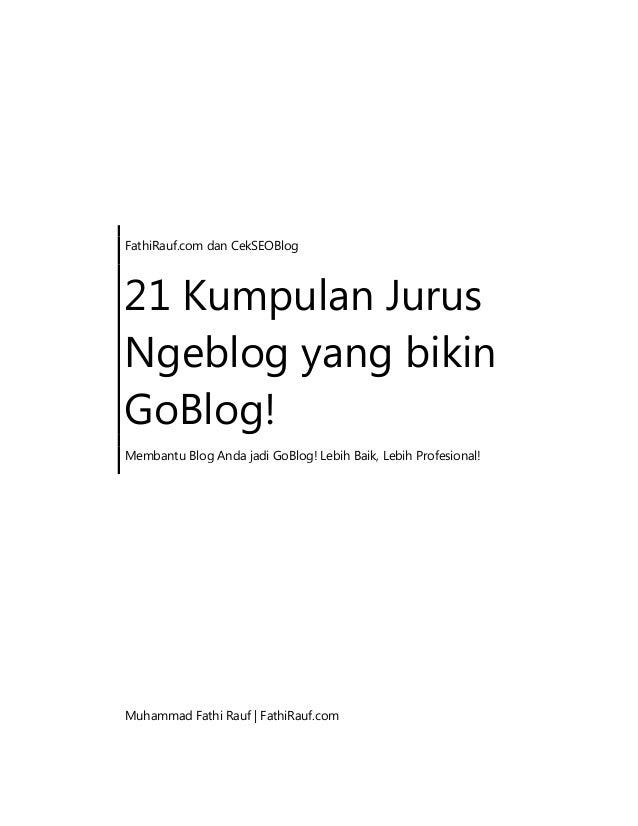21 kumpulan jurus ngeblog yang bikin go blog!