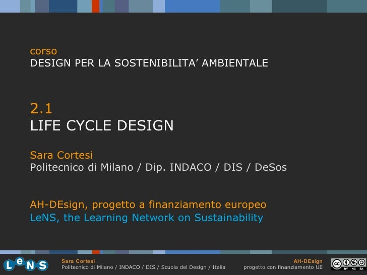 2 1 life_cycle_design_cortesi_polimi_2011
