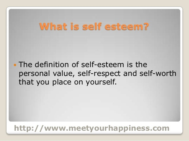 essay on self esteem