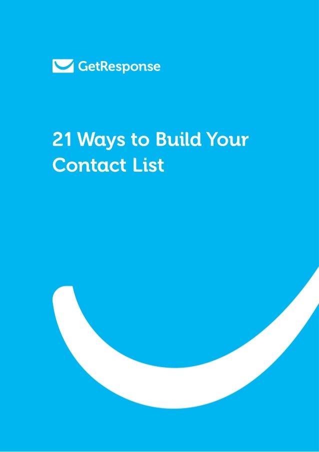 21 maneiras de construir uma lista de e mails