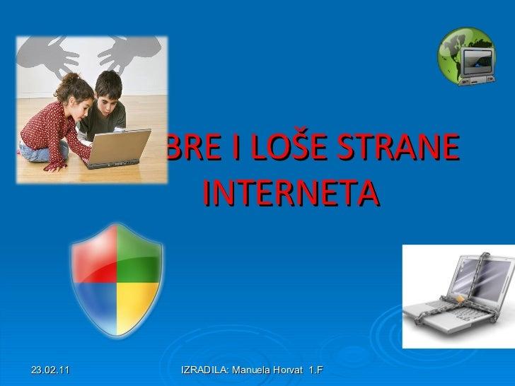 Dobre i loše strane interneta