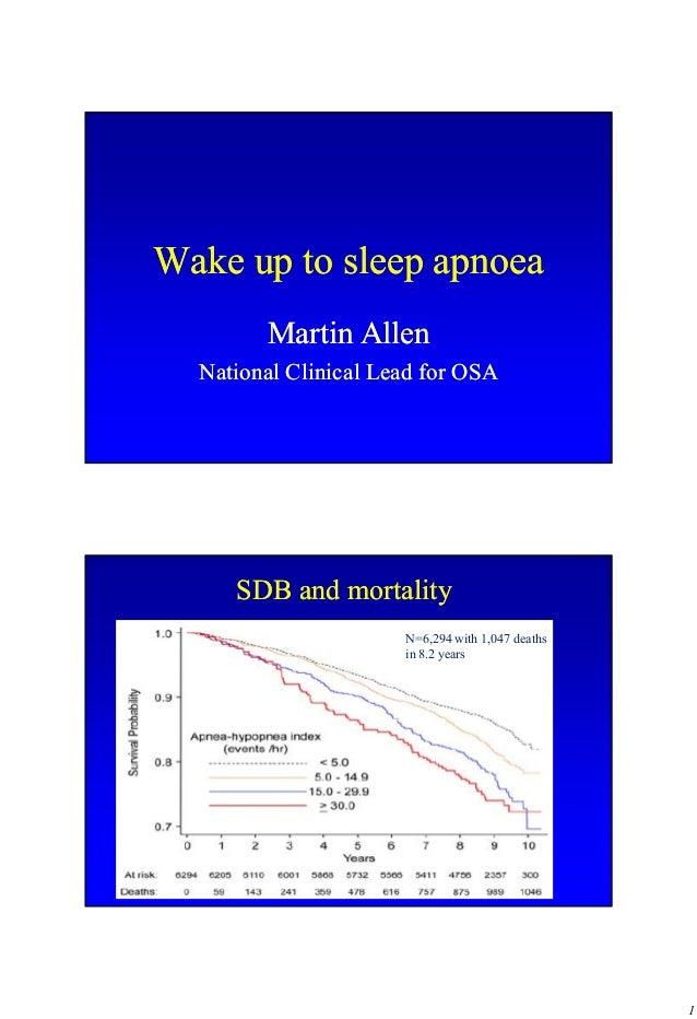 Wake up to sleep apnoea        Martin Allen  National Clinical Lead for OSA     SDB and mortality                      N=6...