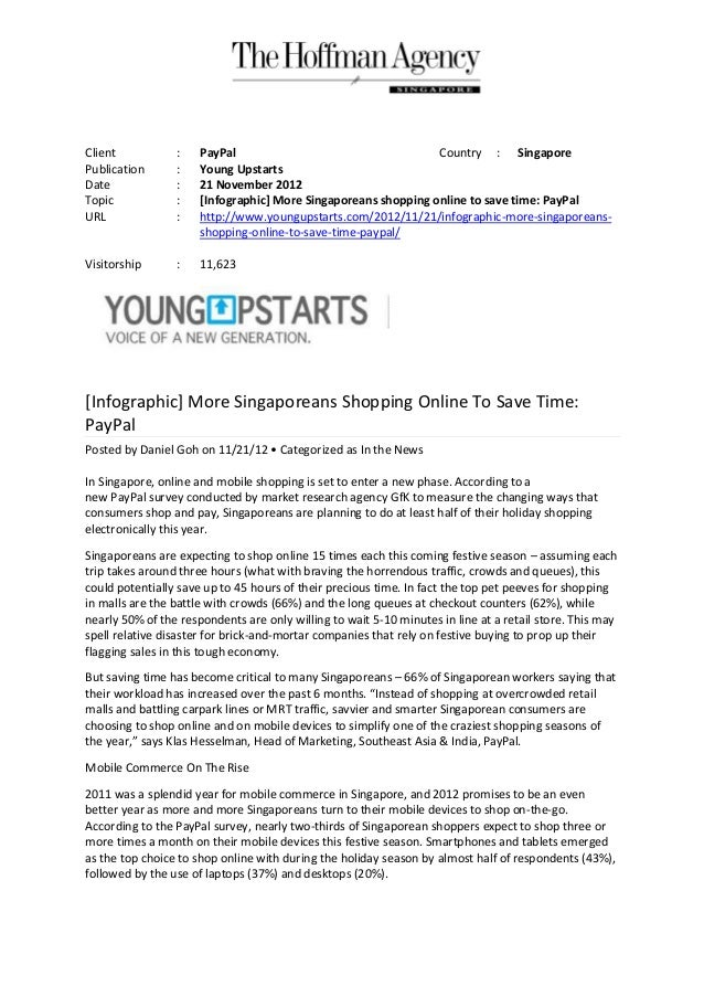 Client           :    PayPal                                    Country : SingaporePublication      :    Young UpstartsDat...
