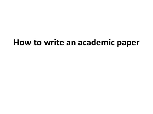 Writing academic paper