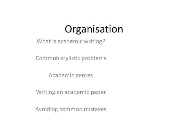 Writing An Academic Paper