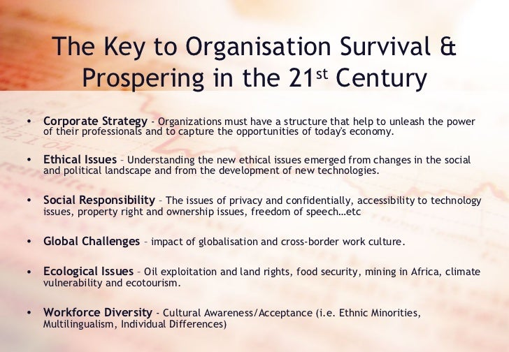 the biggest challenge to business ethics in the 21st century Preparing for the 21st century focusing on quality in a changing corporate and business for the 21st century focusing on quality in a changing health care.