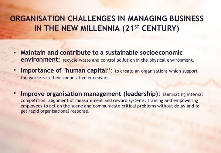 strategic challenges of the 21st century essay View notes - drucker principles essay from tels 3340 at university of houston management challenges for the 21st century essay peter f drucker, in his new book, management challenges for.