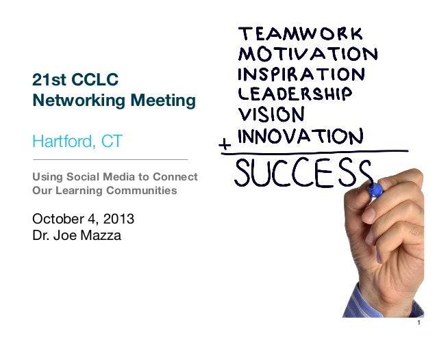 21st CCLC Networking Meeting Hartford, CT Using Social Media to Connect Our Learning Communities October 4, 2013 Dr. Joe M...