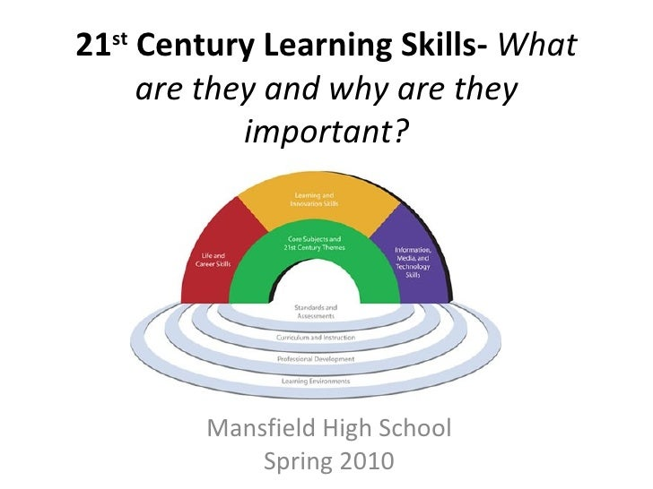 21 st  Century Learning Skills-  What are they and why are they important? Mansfield High School Spring 2010