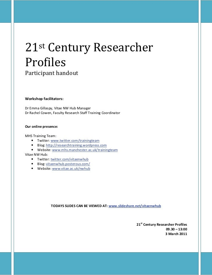 21st Century Research Profiles