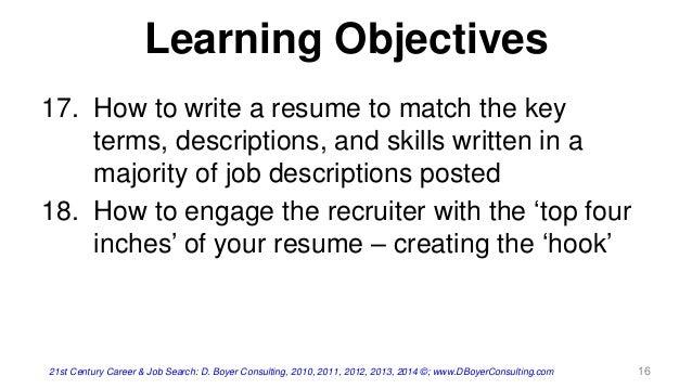 Job search resume writing