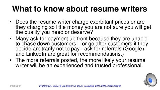 Wasted money on a resume writer