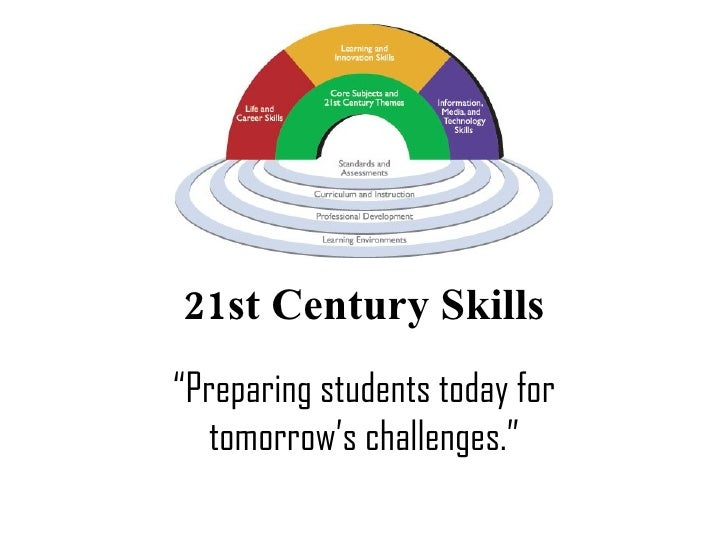 "21st Century Skills "" Preparing students today for tomorrow's challenges."""