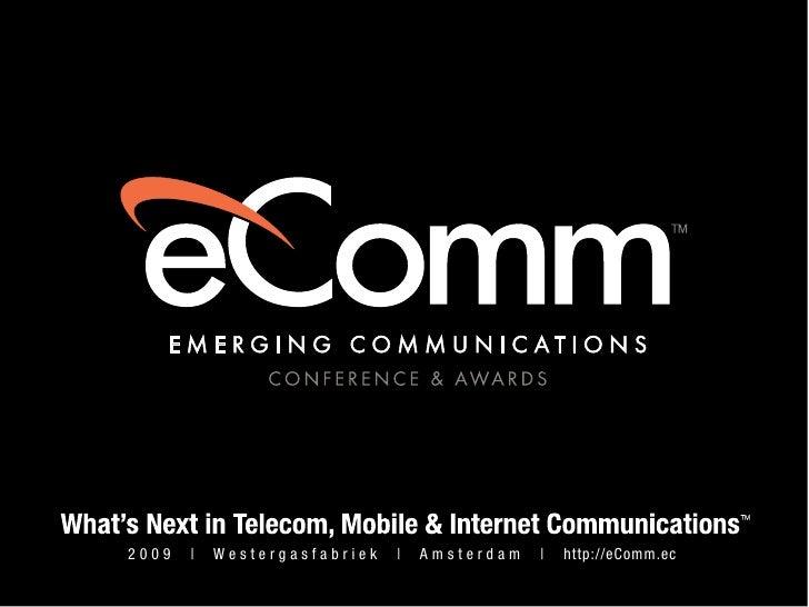 Stuart Henshall's Presentation at Emerging Communication Conference & Awards 2009 Europe