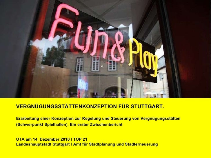 Vergnügungsstättenkonzeption Stuttgart