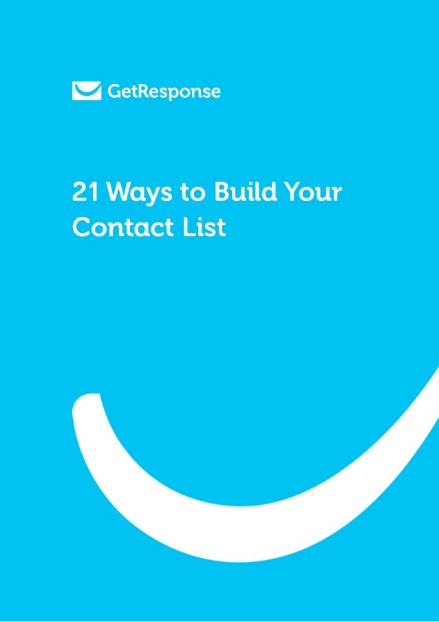 21 Ways to Build YourContact List