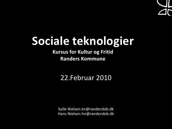 Kursus Kultur og Fritid Randers Kommune