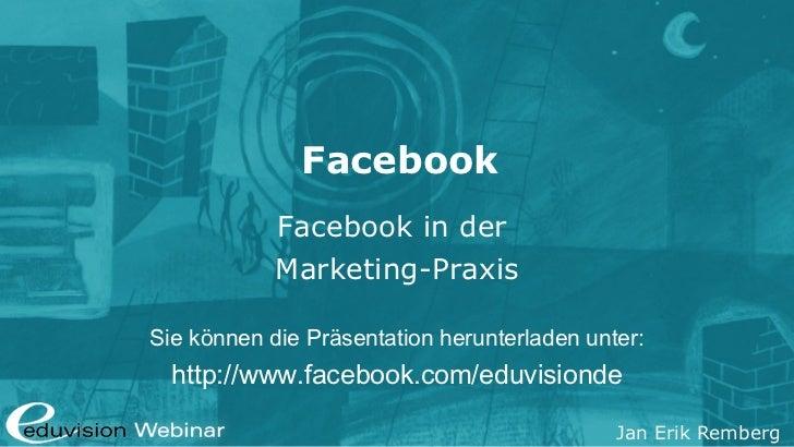 Gratis Facebook-Webinar - Eduvision Ausbildungen