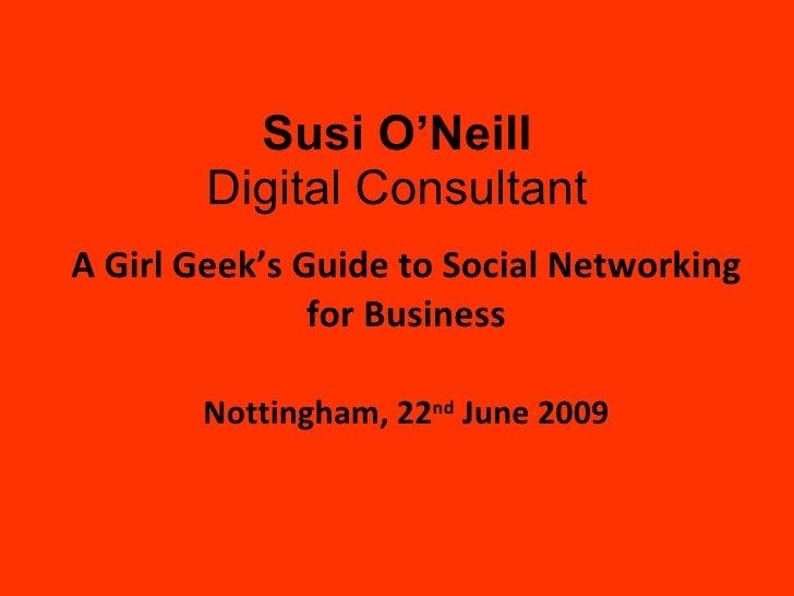 22 06 09 Girl Geek Dinners Social Media For Biz