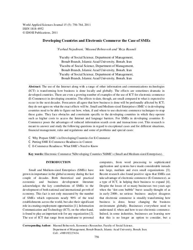 World Applied Sciences Journal 15 (5): 756-764, 2011ISSN 1818-4952© IDOSI Publications, 2011                Developing Cou...