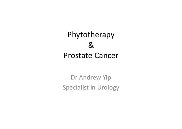 Phytotherapy & Prostate Cancer Dr Andrew Yip Specialist in Urology