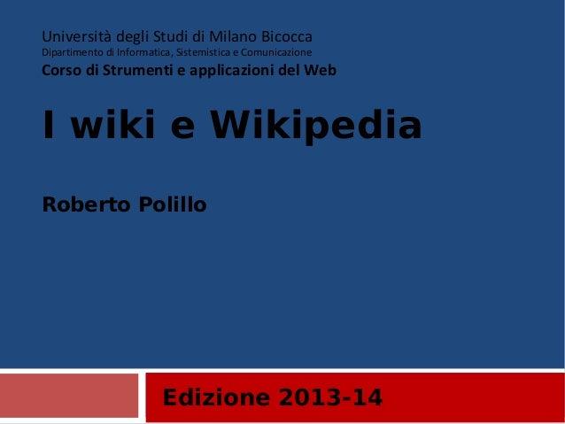 22. I wiki e wikipedia