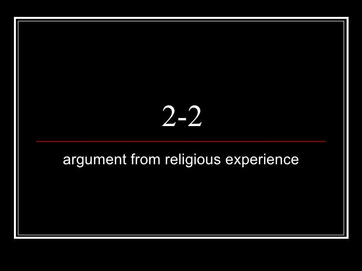 2-2 argument from religious experience