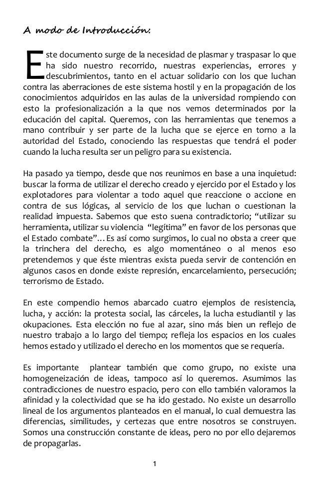 22.  (chile) pikete penal - manual anti represivo